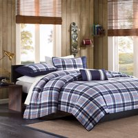 Home Essence Teen Lance Plaid Coverlet Bedding Set