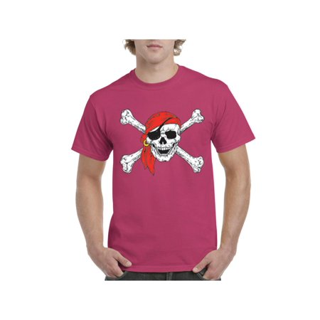 Mens Jolly Roger Skull Crossbones Short Sleeve T-Shirt