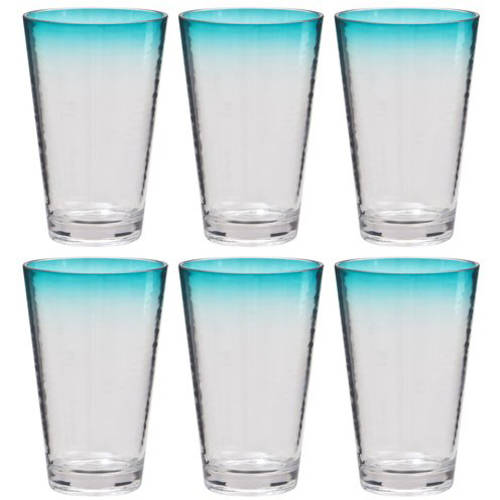 Better Homes and Gardens Color Rim 19 oz Tumbler, 6-Pack