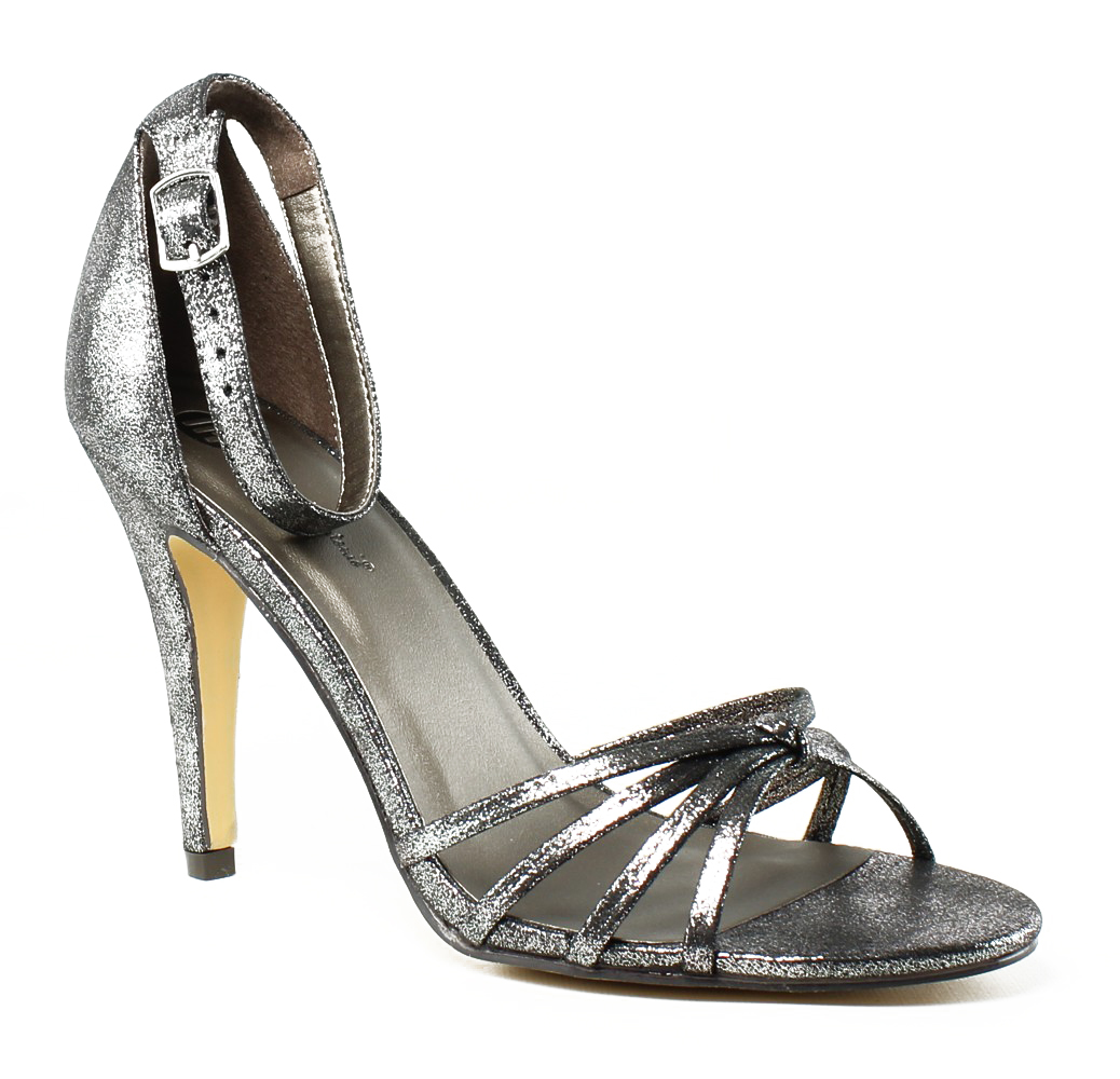Michael Antonio Womens  Silver Ankle Strap Sandals Size 8 New