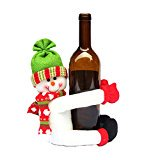 Cute Doll Wine Bottle Hold Cover Party Christmas Table Decoration Color:Snowman - Wine Bottle Table Numbers