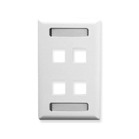 Faceplate  Id  1-Gang  4-Port  White - image 1 of 1