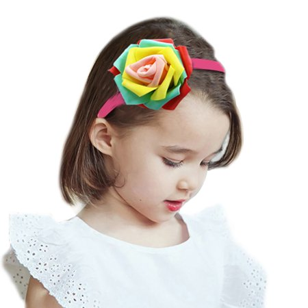 Hair Hoop,Fascigirl Decorative Colorful Flower Hair Band Party Headband Party Costume for Women Girls Ladies