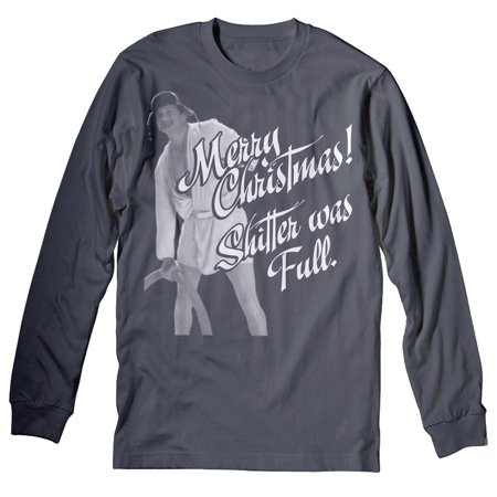 Shirtinvaders - Merry Christmas Shitter Was Full - COUSIN EDDIE - Ugly Sweater - LONG SLEEVE T-shirt - Charcoal - Walmart.com