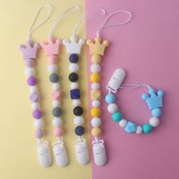 Fysho Baby Silicone Pacifier Soother Beaded Chain Clip Holder