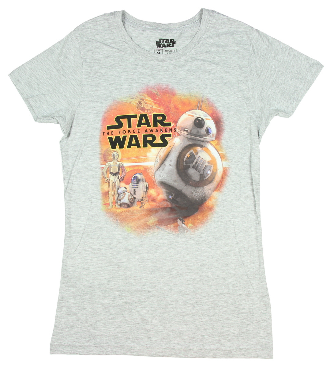 Star Wars BB-8 R2-D2 C-3PO Droid Collage Movie Fan Apparel Juniors T-Shirt