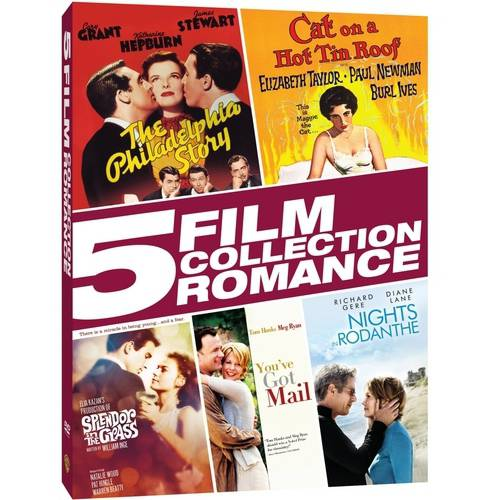 5 Film Collection: Romance The Philadelphia Story   Cat On A Hot Tin Roof   Splendor In The Grass   You've Got... by