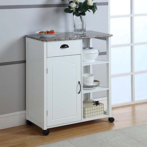 Kitchen Storage Cart - White