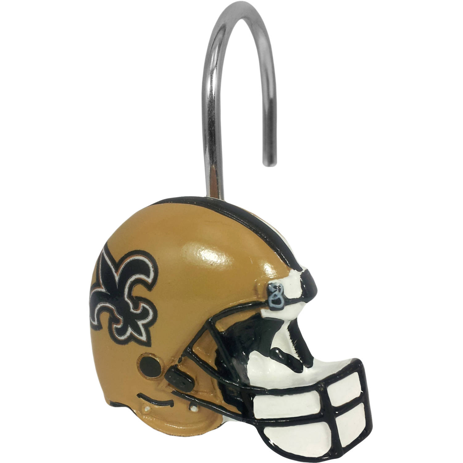 NFL New Oreans Saints Decorative Bath Collection - 12pc Shower Hooks