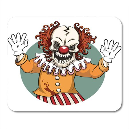 Angry Clown Face (KDAGR Scary Clown Angry Face Horror and Crazy Maniac Scare Zombie Character Evil Mousepad Mouse Pad Mouse Mat 9x10)