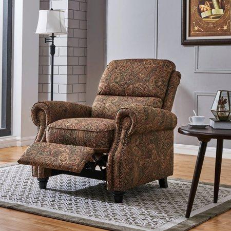 Cari Push Back Recliner Chair in Paisley All Terrain Push Chair