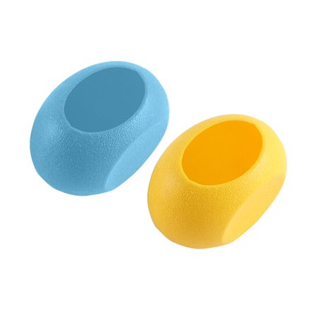 2 Pcs Plastic Egg Nest Shaped Washable Portable Hamster House Yellow Blue - image 1 de 2