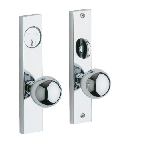 Baldwin  6548.ENTR  Keyed Entry  Detroit  Mortise Lock  Single Cylinder  ;Polished Chrome