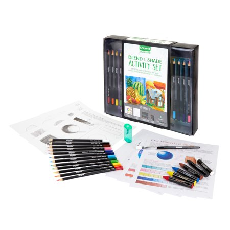 Crayola 40 Piece Signature Series Blend & Shade Activity Set With Colored Pencils And Oil Pastels