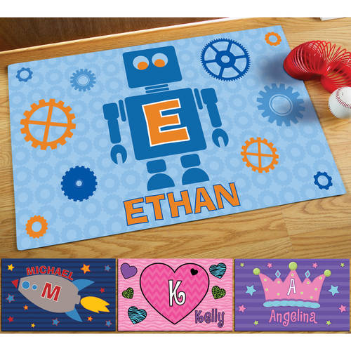 """Personalized 17"""" x 27"""" Doormat, Available in Different Patterns"""