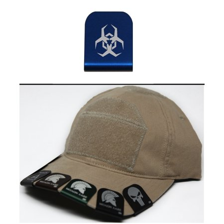 Ultimate Arms Gear Malware Toxic Hazard Symbol Hat Cap Crown Brim It  Blue