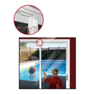 White Door Guardian Patio Door Lock ()