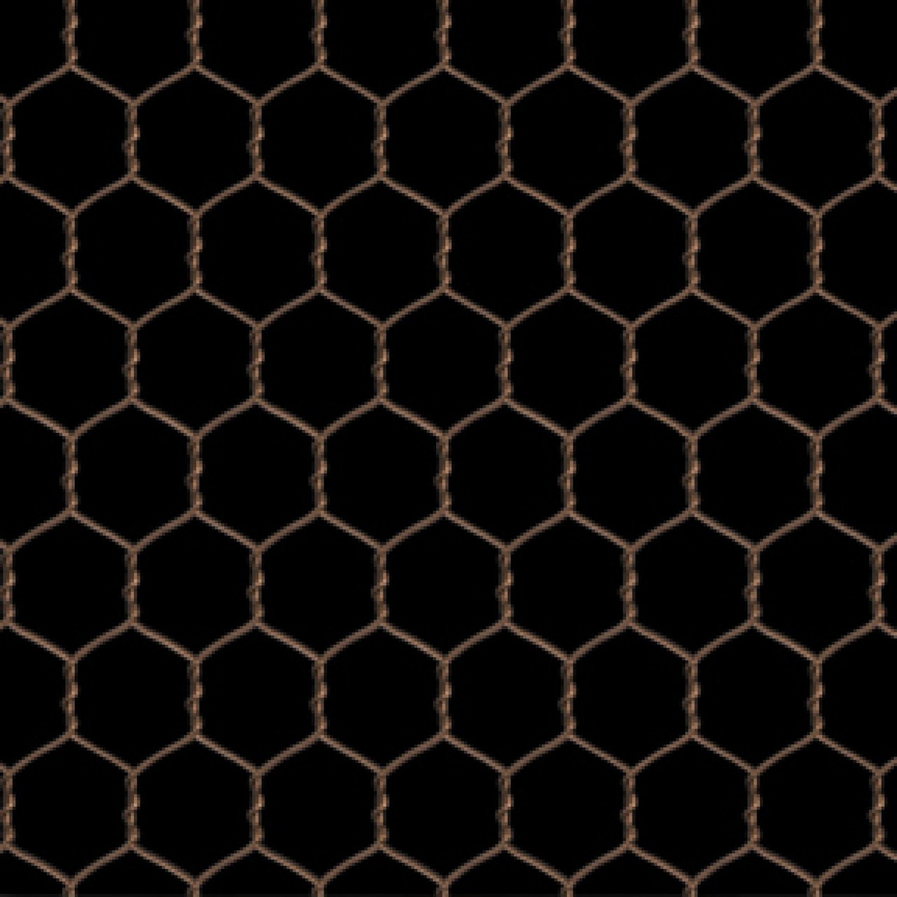 Farm Animals~Chicken Wire/Black Cotton Fabric by Elizabeth Studios
