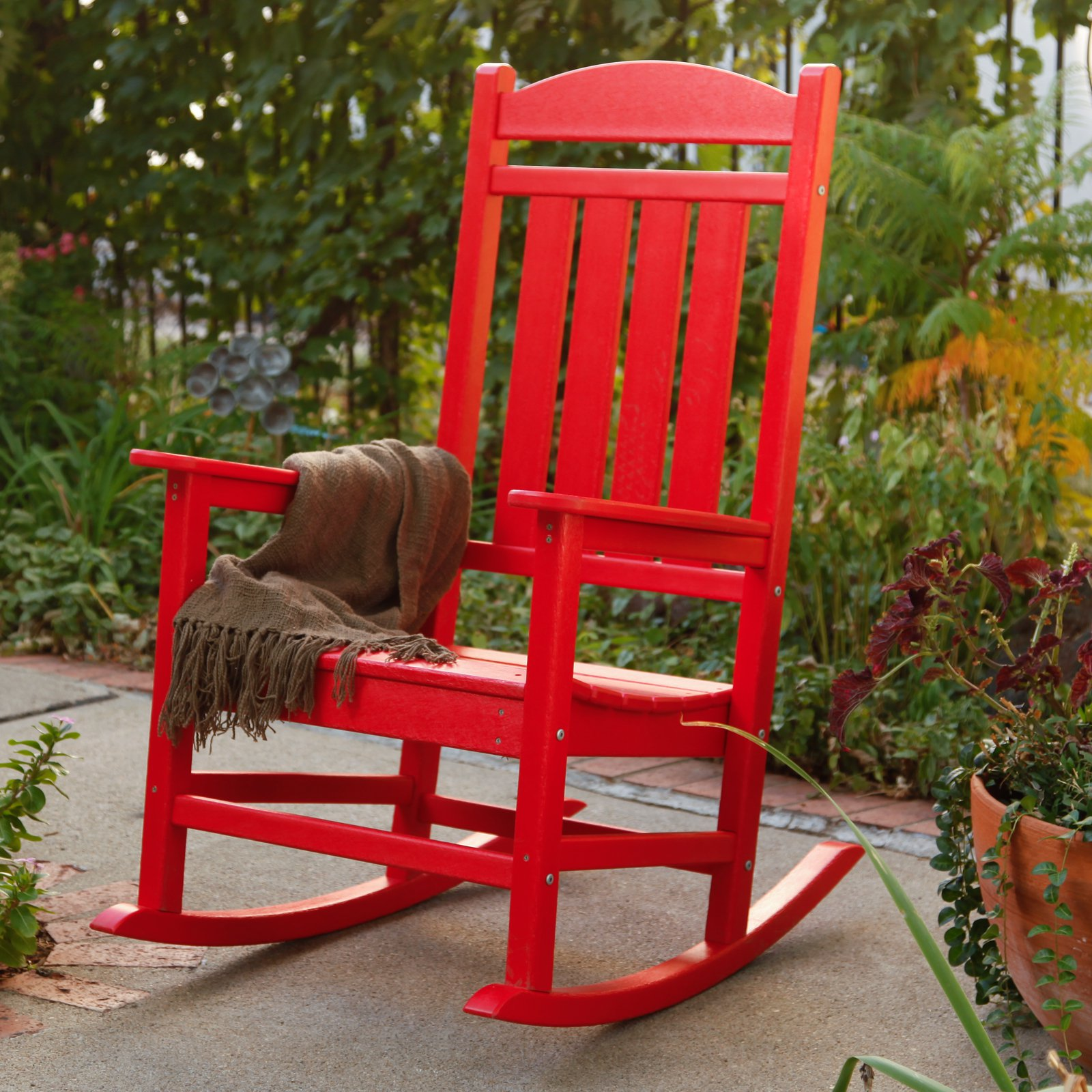 recycled plastic rocking chair walmartcom