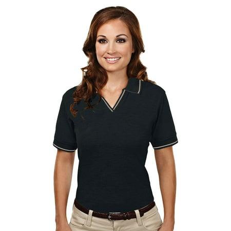 Tri-Mountain Women's Stain Resistant Pique Golf Shirt (Gelato Pique Halloween)