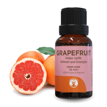 Guru Nanda Grapefruit Aromatherapy 100% Pure & Natural Essential Oil,15ml (Aromatherapy Bath Oil)