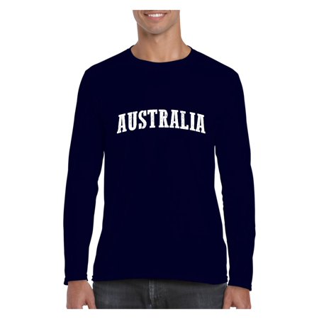 Australia Men Softstyle Long Sleeve T-Shirt (Best T Shirts Australia)