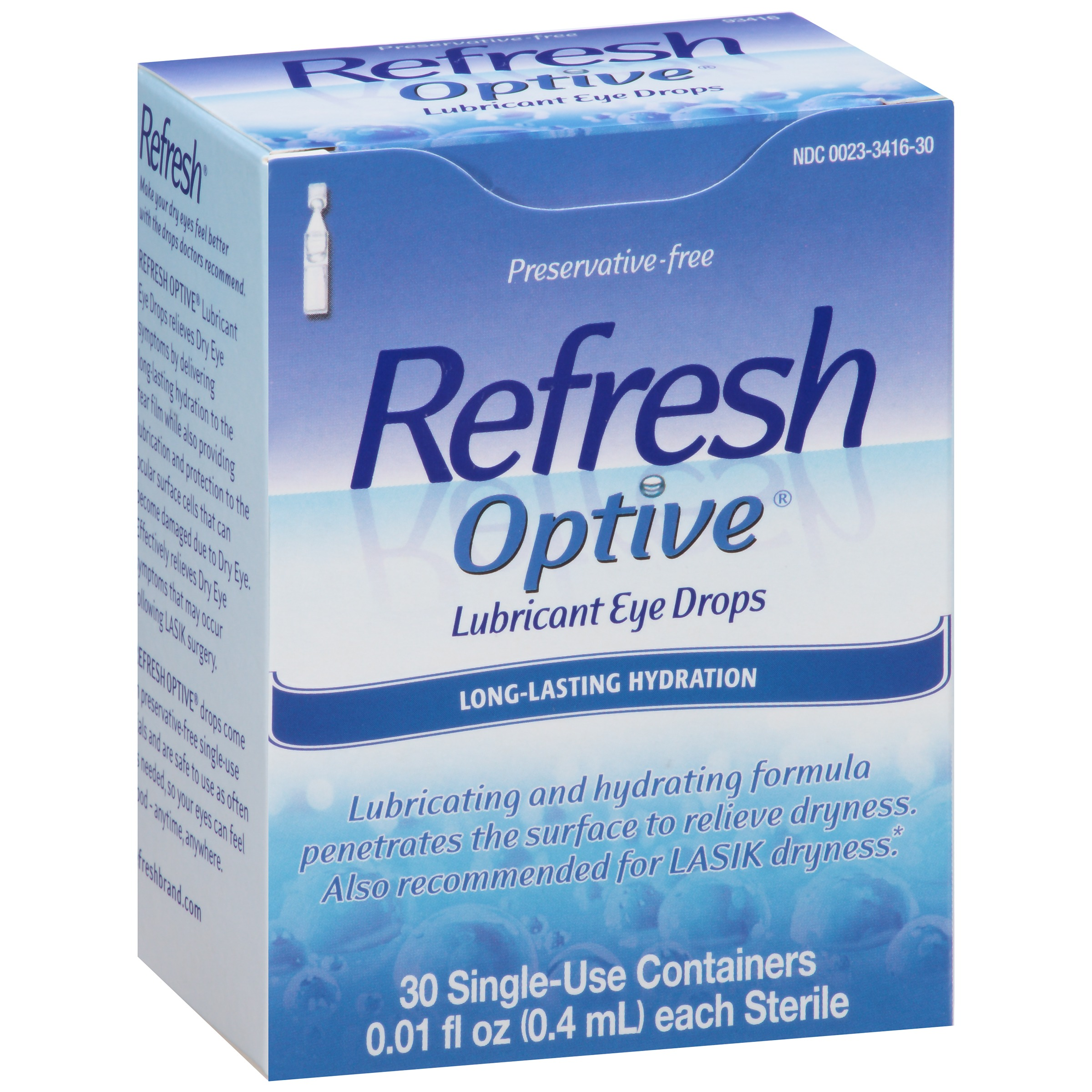 Refresh Optive® Lubricant Eye Drops 30-0.01 fl. oz. Tubes