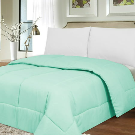 Down Alternative Box Stitch Comforter by Sweet Home Collection ()