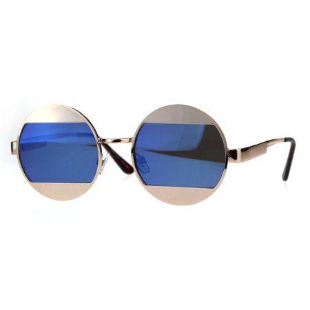Sa106 Cropped Color Mirror Lens Round Circle Hippie