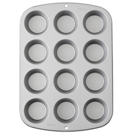 Recipe Right Muffin Pan, 12-Cup Non-Stick Muffin Pan, Bake a dozen muffins or cupcakes at once with this 12-cup pan By Wilton