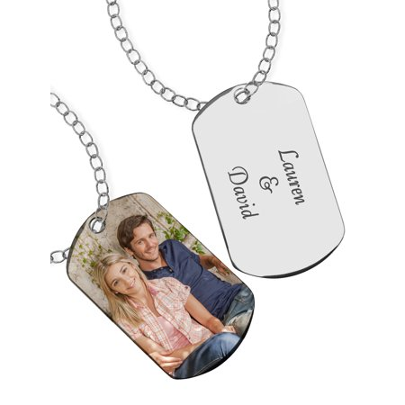 Personalized Photo Pendant -- Dog Tag Style - Custom Dog Tag Necklace