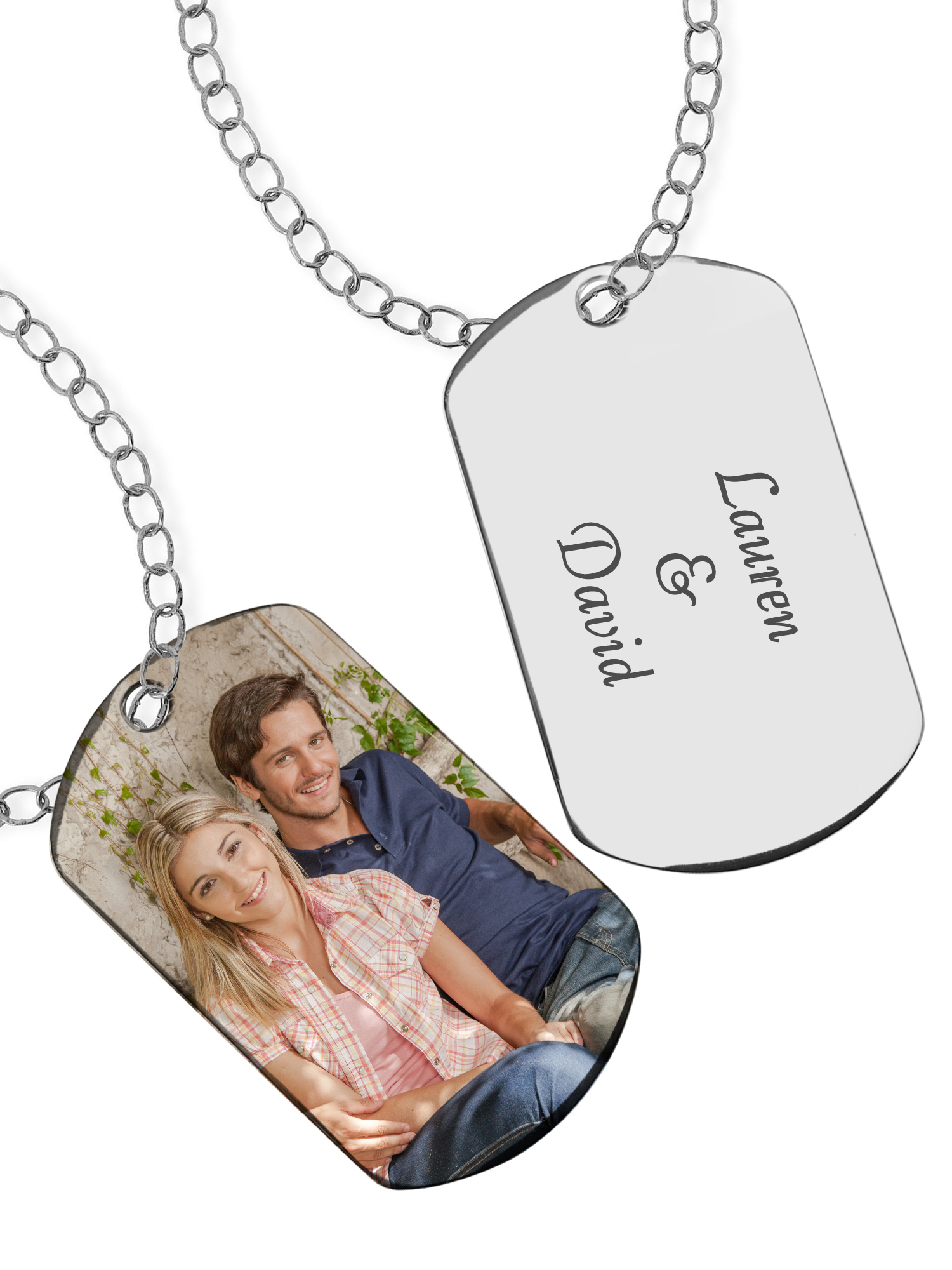 Army Style Dog Tags  Men Boys Soldier Dog Tags Dogtag Chain Necklace Pendant