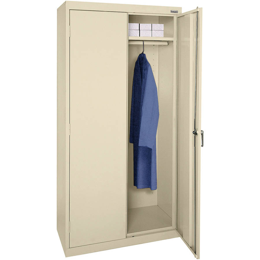 "Classic Series 36""W x 72""H x 18""D Wardrobe Cabinet with Adjustable Shelf, Putty"