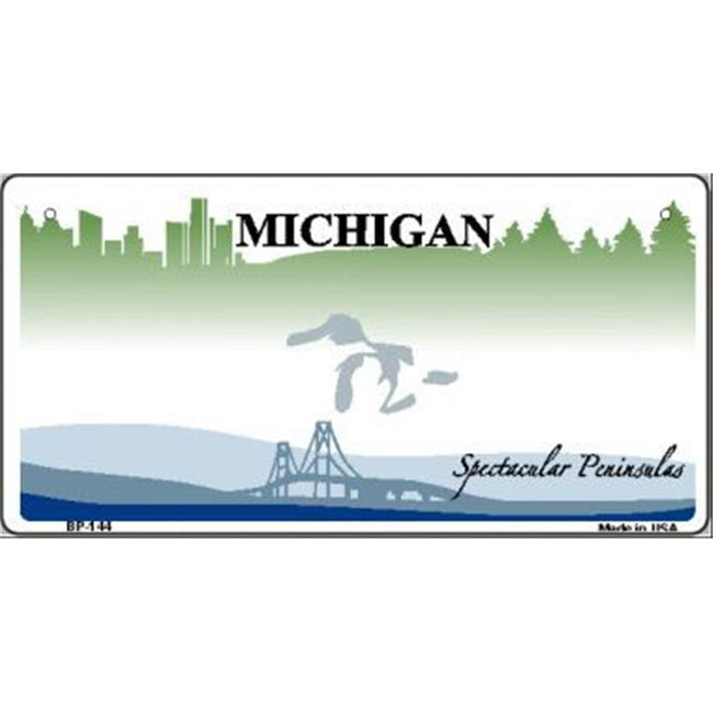 Smart Blonde BP-144 Michigan State Background Novelty Bicycle License Plate