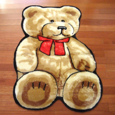 Walk on Me Rugs Classic Teddy Bear Playmat Rug - 3'3 x 4'7