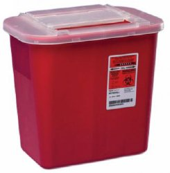 Container, Sharps Red 2Gl  (Units Per Case: 20)