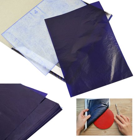 - 100 Sheets A4 Dark Blue Carbon Transfer Tracing Paper for Wood, Paper, Canvas and Other Art Surfaces Toda's Special Offer