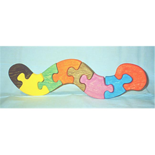 THE PUZZLE-MAN TOYS W-1169 Wooden Educational Jig Saw Puzzle - Worm - image 1 of 1