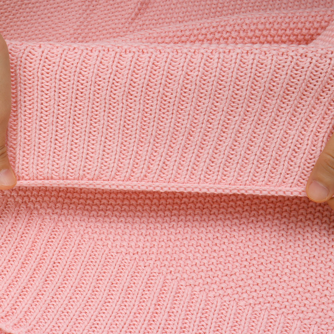 "100% Cotton Soft Warm Knit Throw Blanket Bed Sofa Home Decor 71"" x 79"" Pink - image 1 de 8"