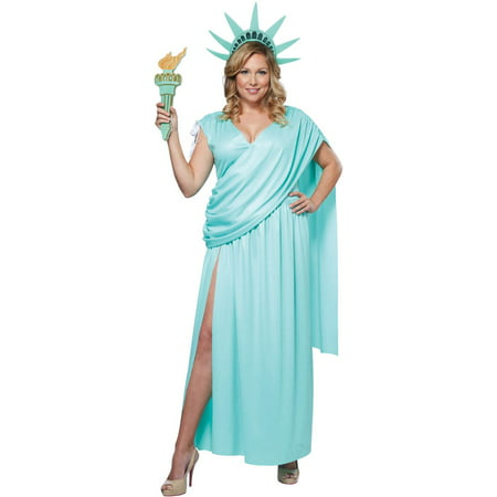 Womens Lady Liberty Plus Size - Statue Of Liberty Costumes