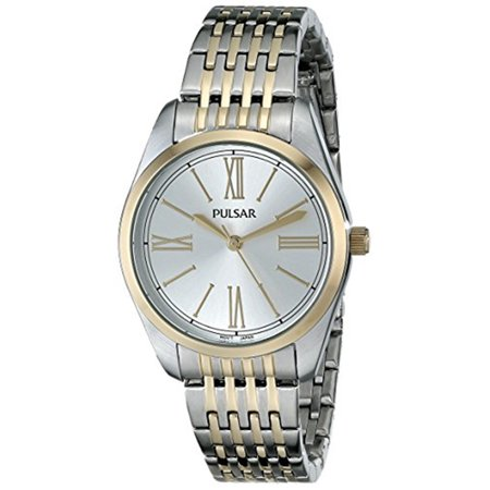 Women's Silver Dial Two Tone Stainless Steel Watch PG2008 (Watches Women Pulsera)