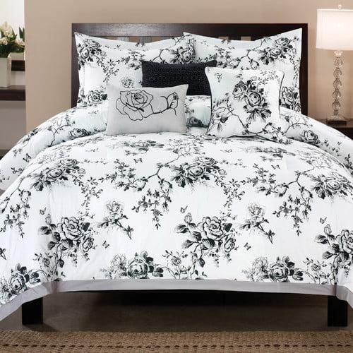 Luxury Home Rose Hill 6 Piece Comforter Set