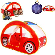 Dazzling Toys Pop Up Foldable Car Playhouse Happy Time Interactive Car Pop Up Tent- Play HouseExcellent For Indoor & Outdoor Use- Great For Kids And Pets Instant Set-Up + Easy & Neat Storage Case Fits