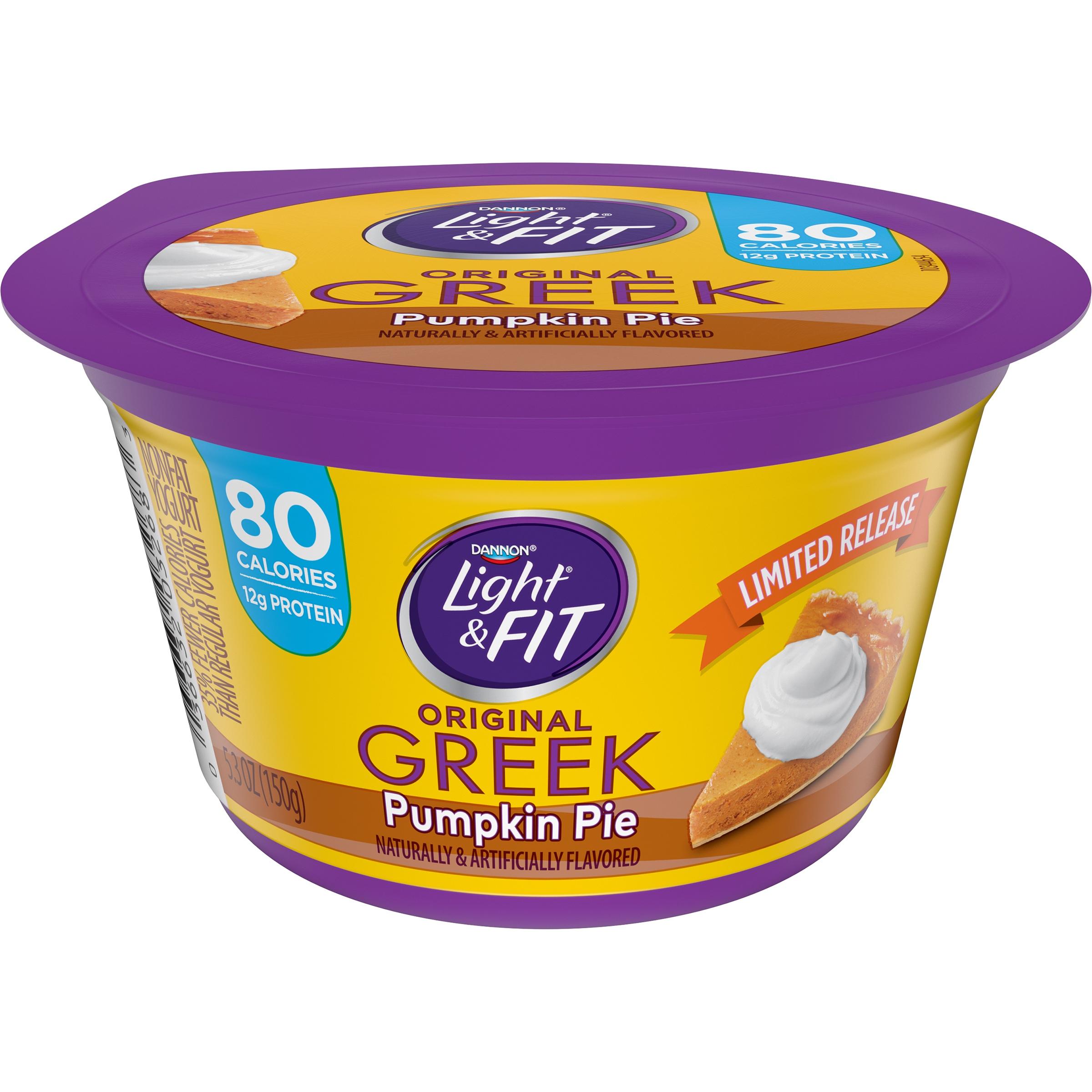Dannon® Light & Fit® Greek Nonfat Yogurt Pumpkin Pie 5.3oz Single Serve