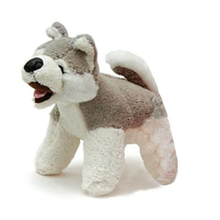Jeffers Plush Squeaky Dog Toys - Plush Dog Squeaky Toy, Gray/White