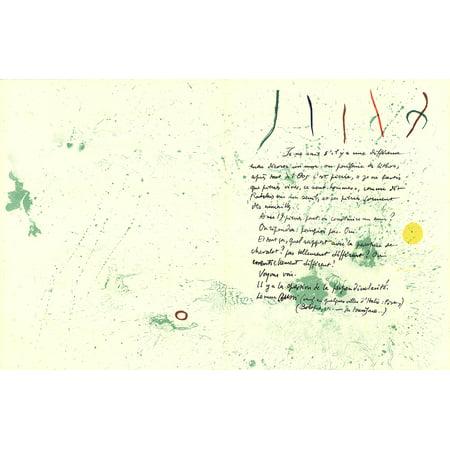Joan Miro-Album 19 Original Lithographs pages 1,14-1961 (Original Signed Lithograph)