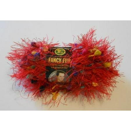 (Fancy Fur Eyelash Yarn - #213 Rainbow Red, One Skein of Lion Brand Fancy Fur Eyelash Yarn. By Lion Brand)