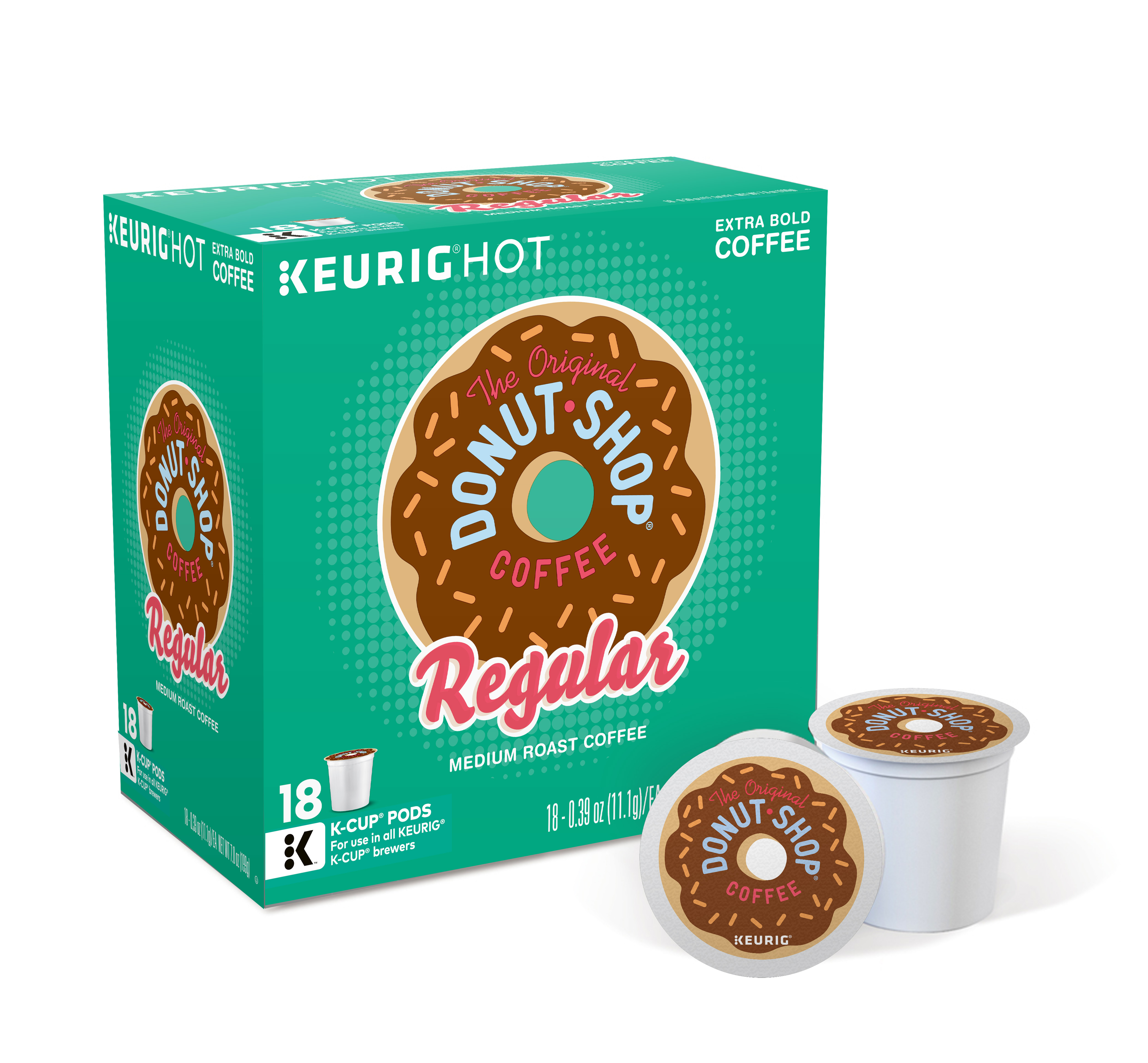 The Original Donut Shop Regular Keurig Single-Serve K-Cup Pods, Medium Roast Coffee, 18