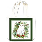 Alices Cottage Snowy Owl Gift Tote