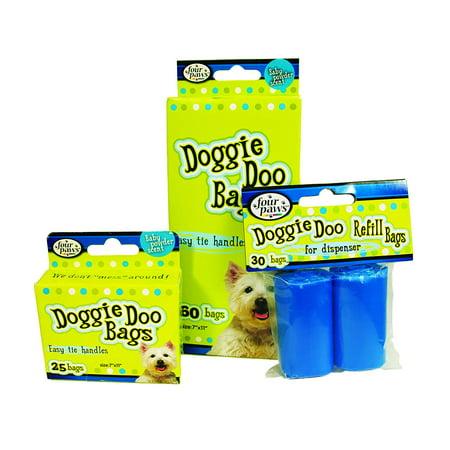 Doggie Bag Dispenser (Four Paws Doggie Doo Pet Waste Refill Bags For Dispenser)